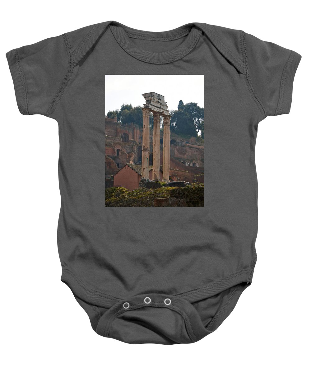 2013. Baby Onesie featuring the photograph The Temple Of Castor And Pollux by Jouko Lehto