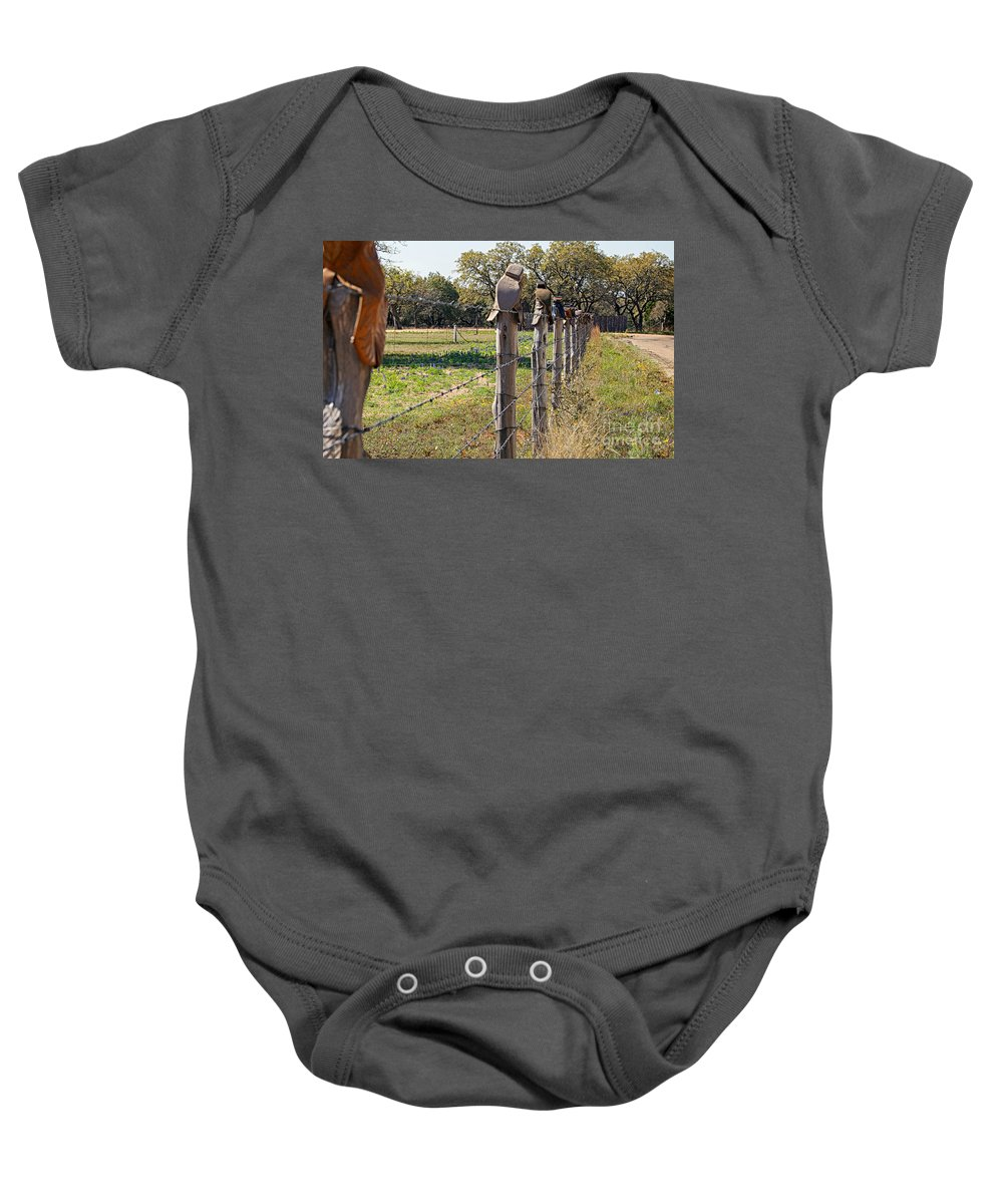 Boots Baby Onesie featuring the photograph The Texas Way by Erika Weber