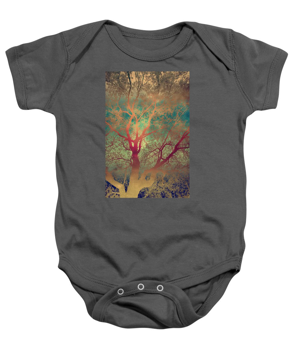 Tree Silhouette Baby Onesie featuring the photograph The Tree Called Beautiful by Gray Artus