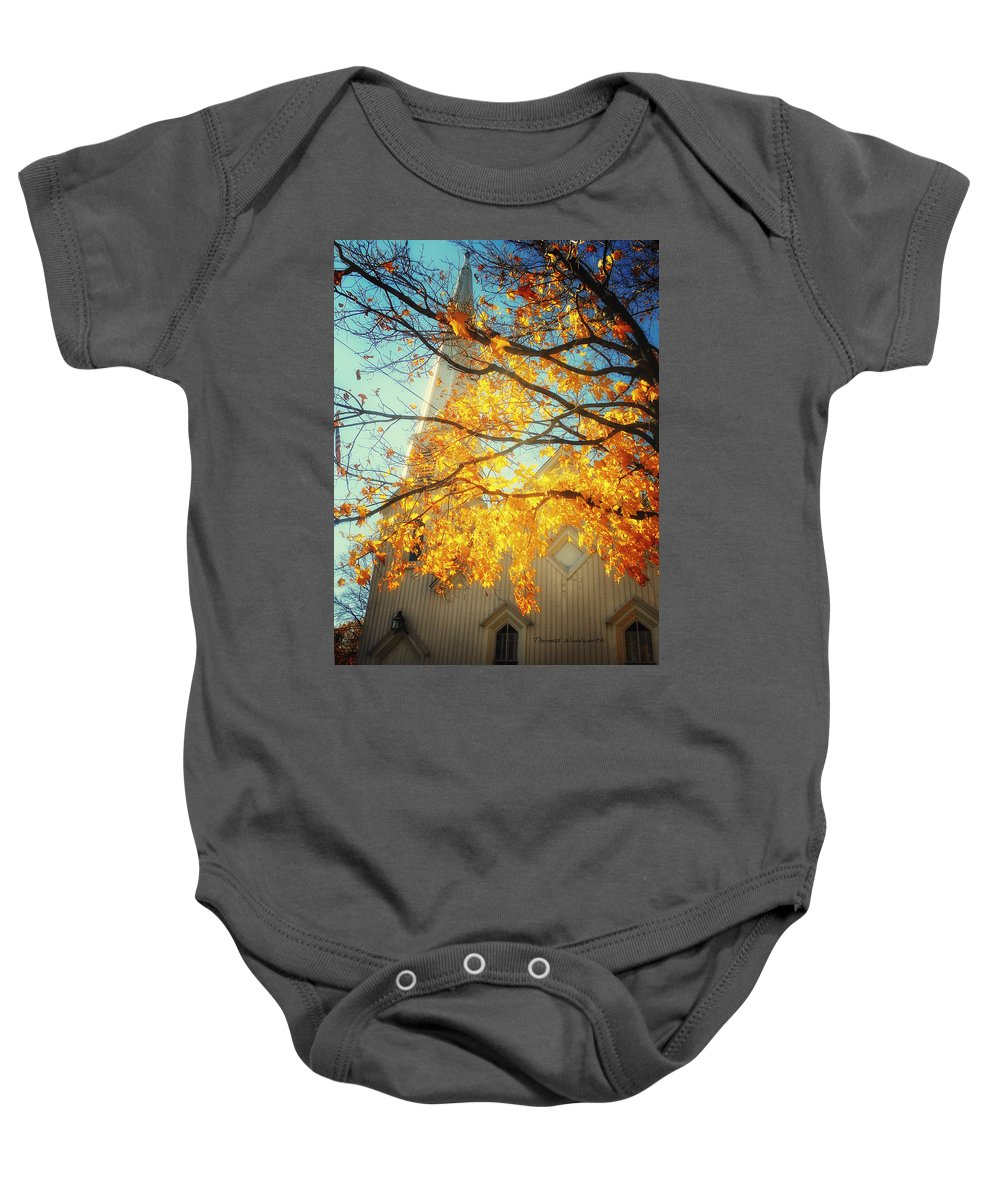 Autumn Baby Onesie featuring the photograph Then Autumn Arrives 02 by Thomas Woolworth