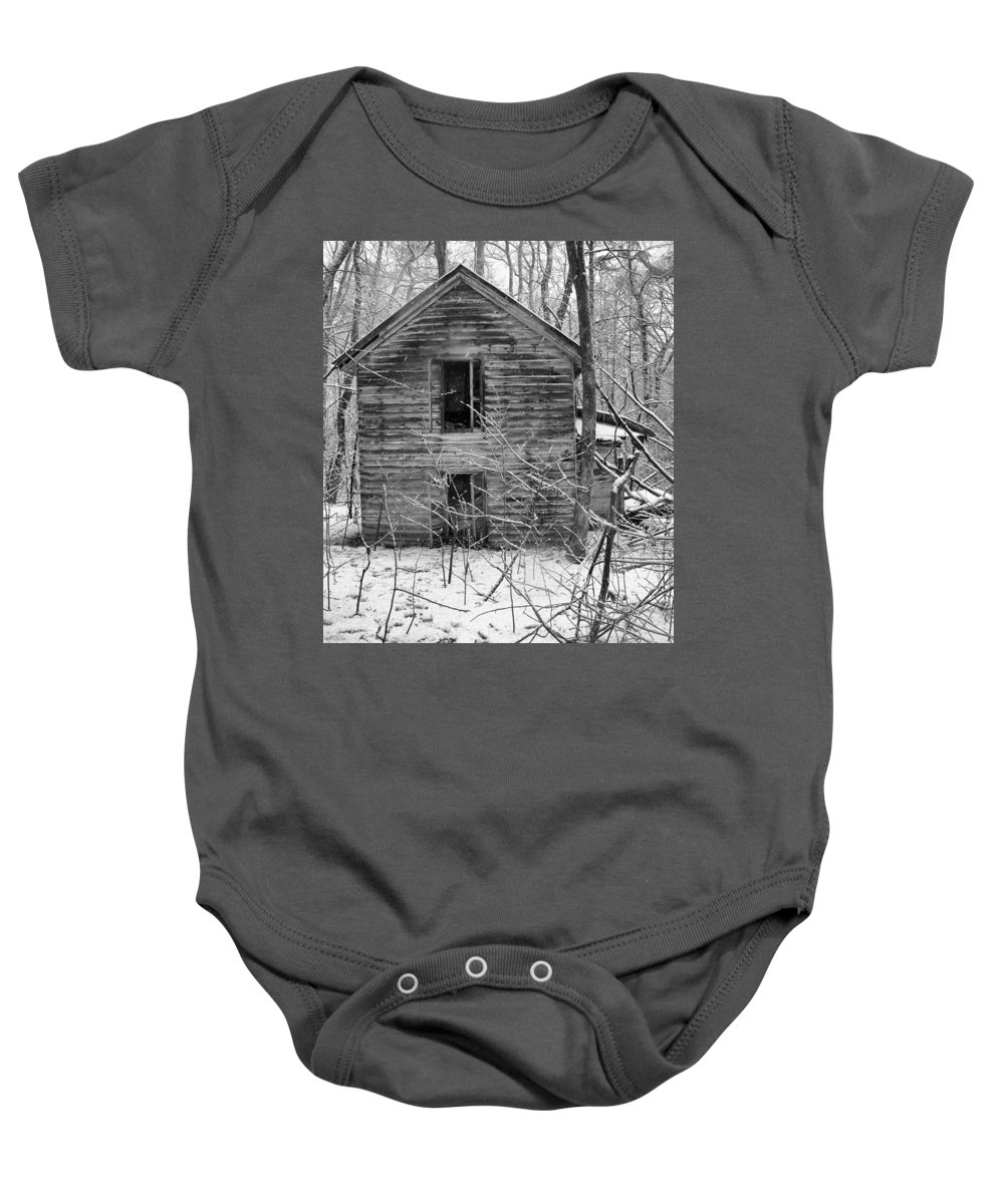 Mt. Aventine Baby Onesie featuring the photograph This Old House by Leah Palmer