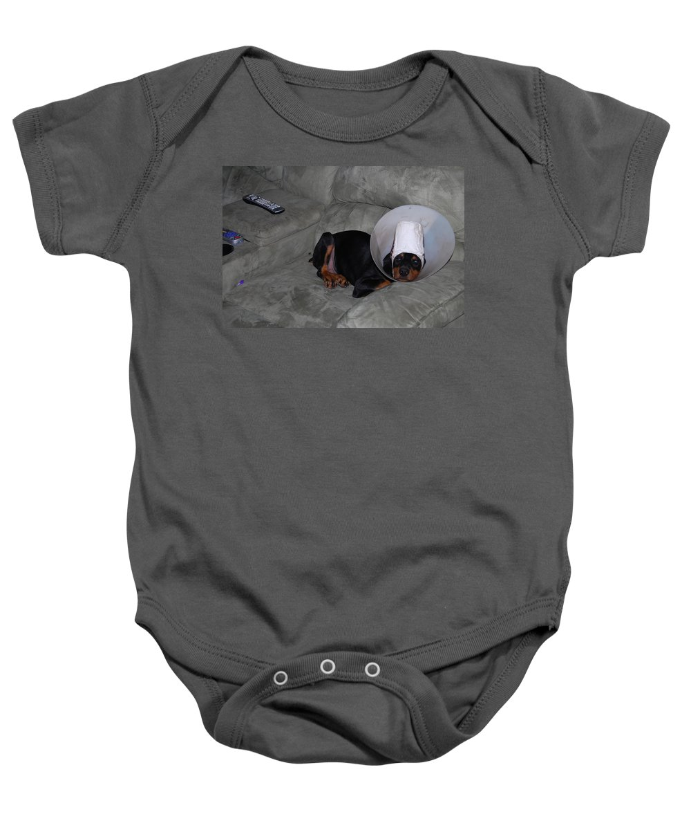 Why Me Lord Baby Onesie featuring the photograph This Sucks by Robert Floyd