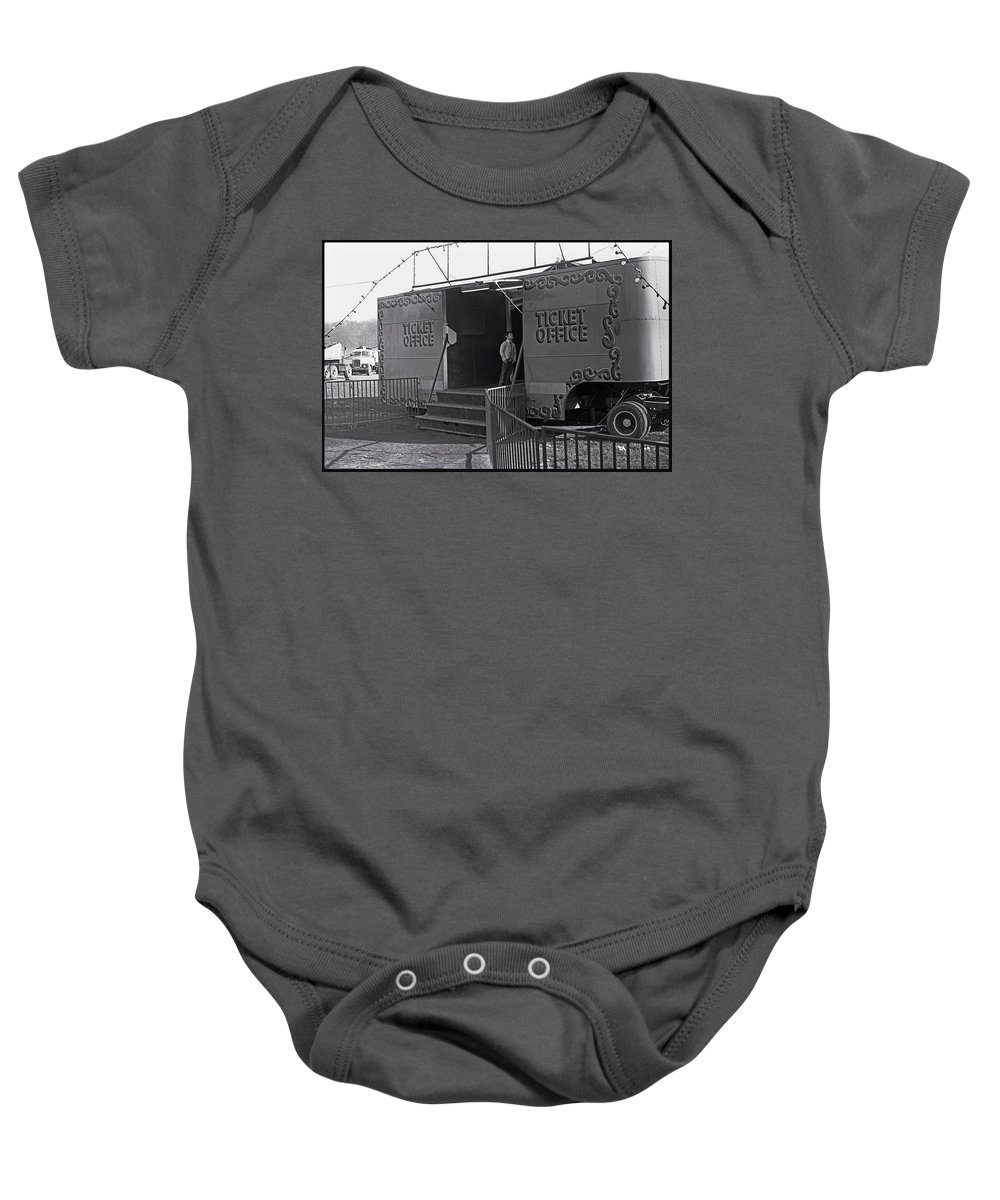 Circus Ticket Office Baby Onesie featuring the painting Ticket Office by Charles Stuart