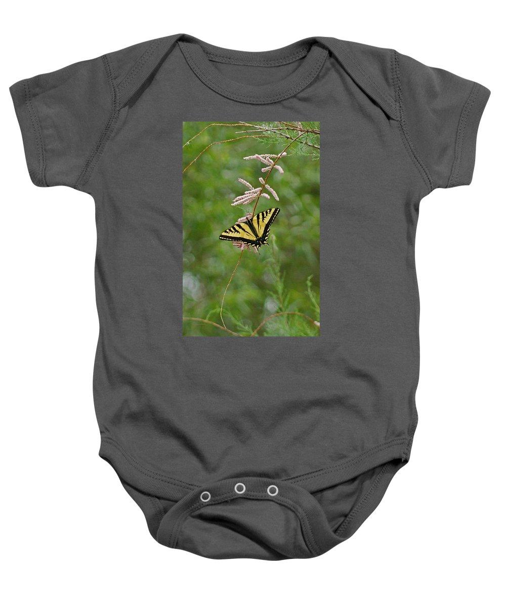 Bugs Baby Onesie featuring the digital art Tiger Swallowtail by Ernie Echols
