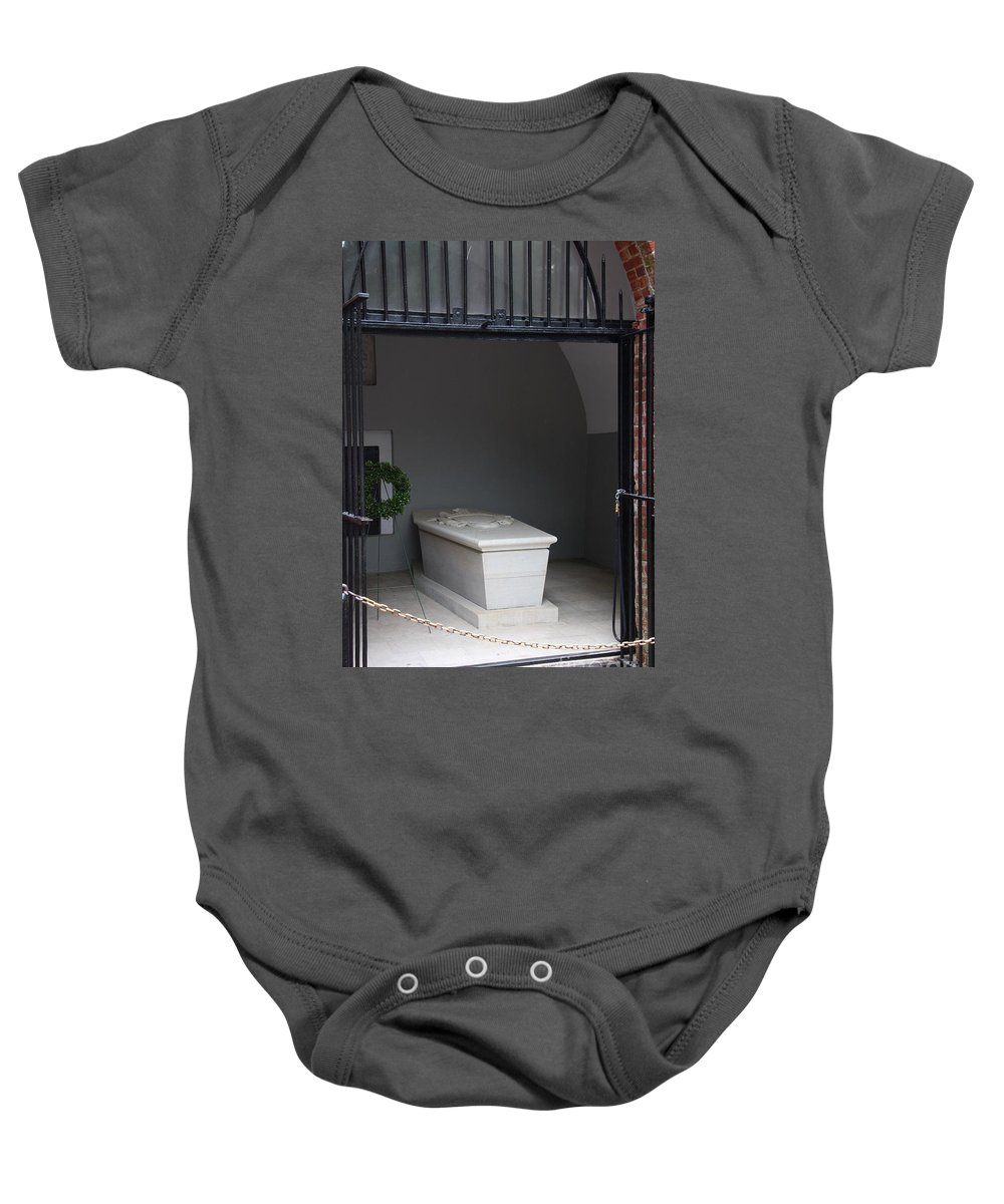 Tomb Baby Onesie featuring the photograph Tomb Georg Washington by Christiane Schulze Art And Photography