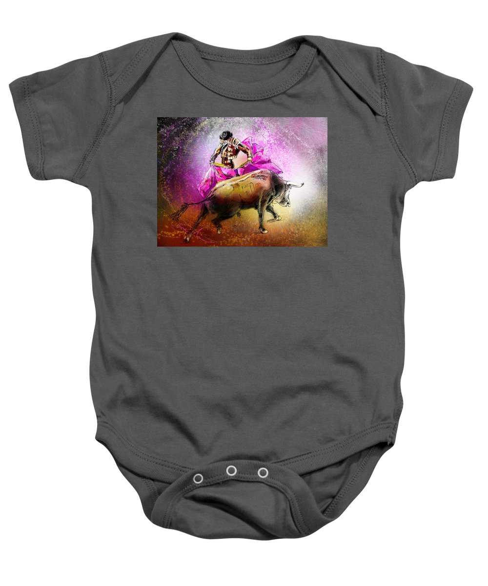 Animals Baby Onesie featuring the painting Toroscape 38 by Miki De Goodaboom