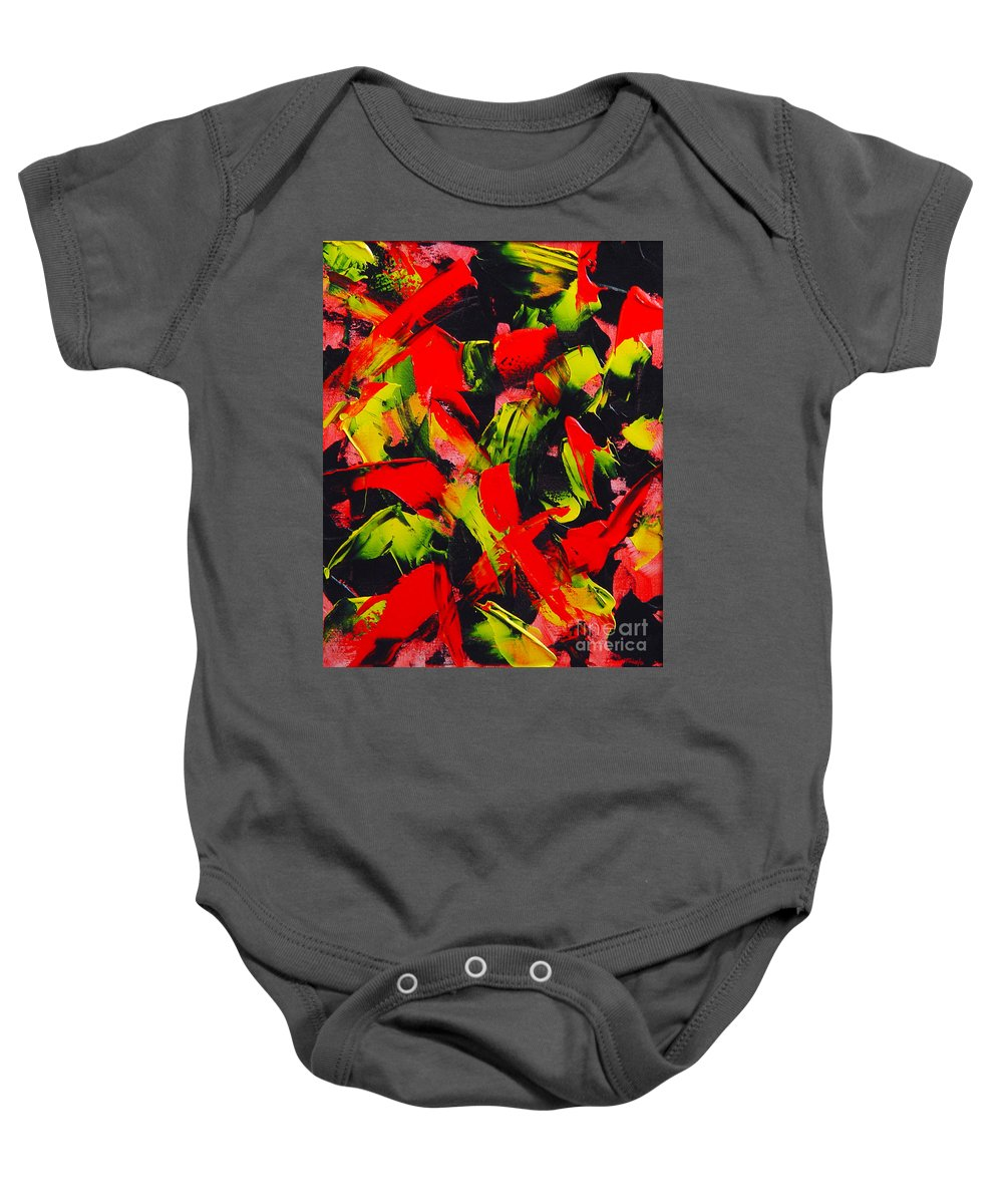 Abstract Baby Onesie featuring the painting Transitions IIi by Dean Triolo