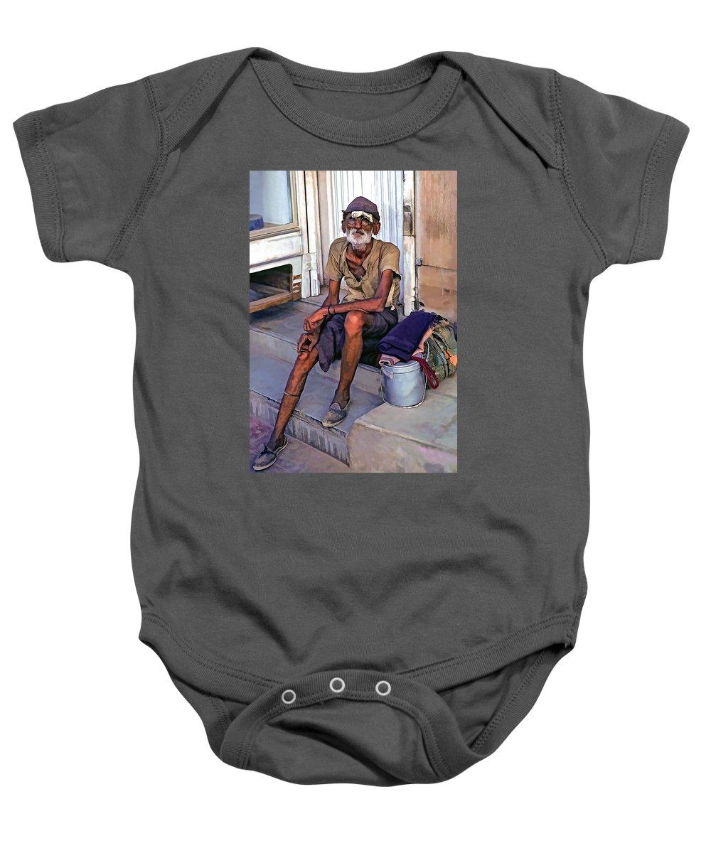 India Baby Onesie featuring the photograph Travelin' Man II by Steve Harrington