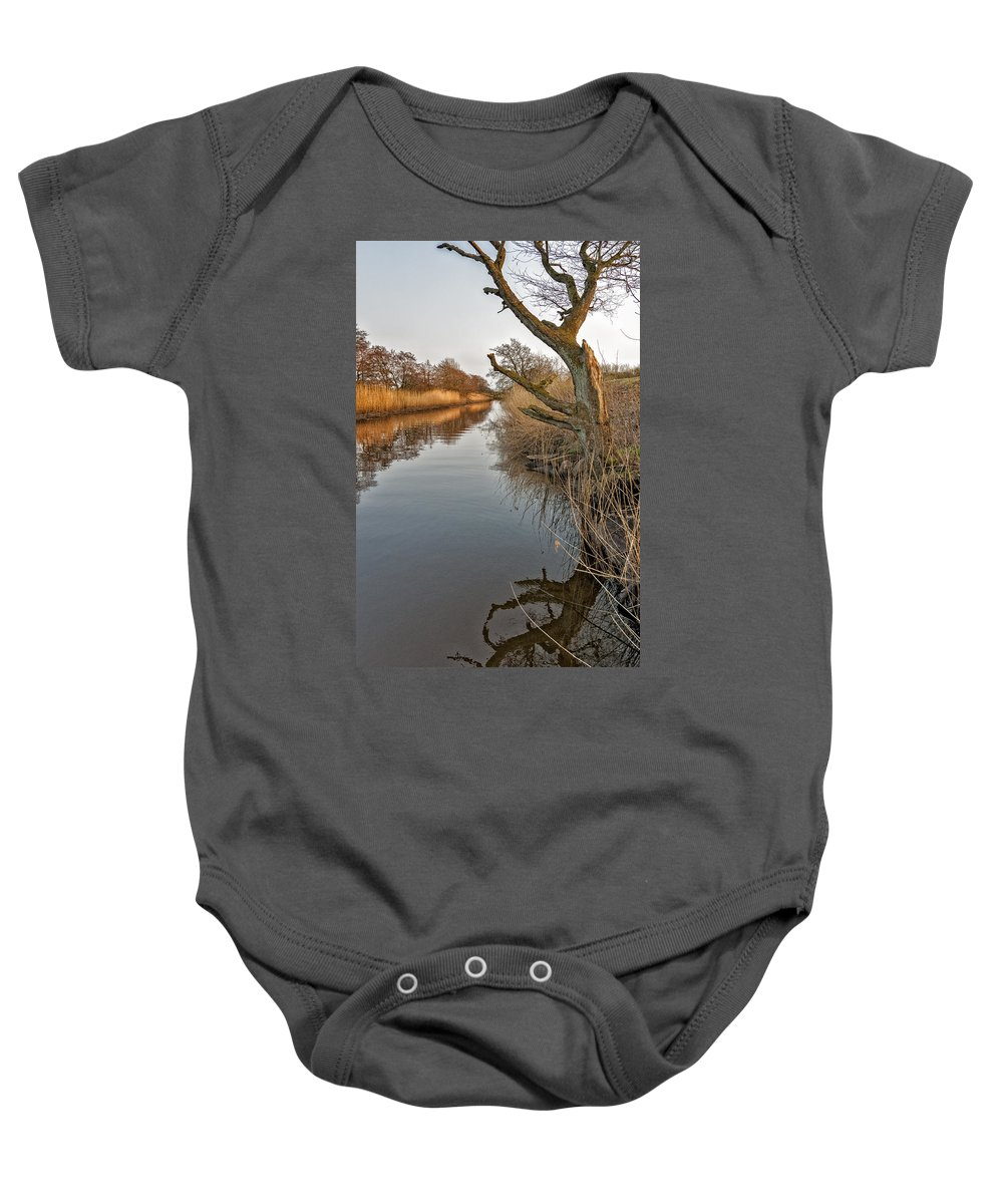 Tree Baby Onesie featuring the photograph Tree By The River by Mike Santis