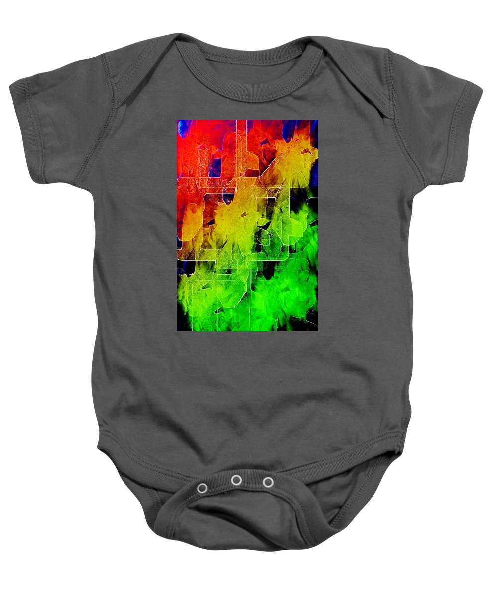 Payers Baby Onesie featuring the mixed media Trellis by Paula Ayers