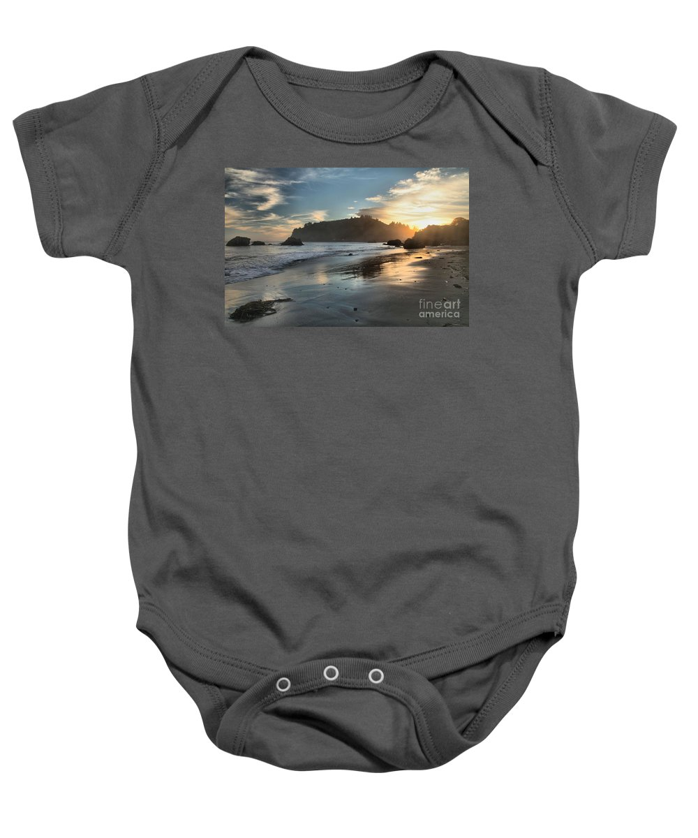 Trinidad State Beach Baby Onesie featuring the photograph Trinidad Beach Reflections by Adam Jewell