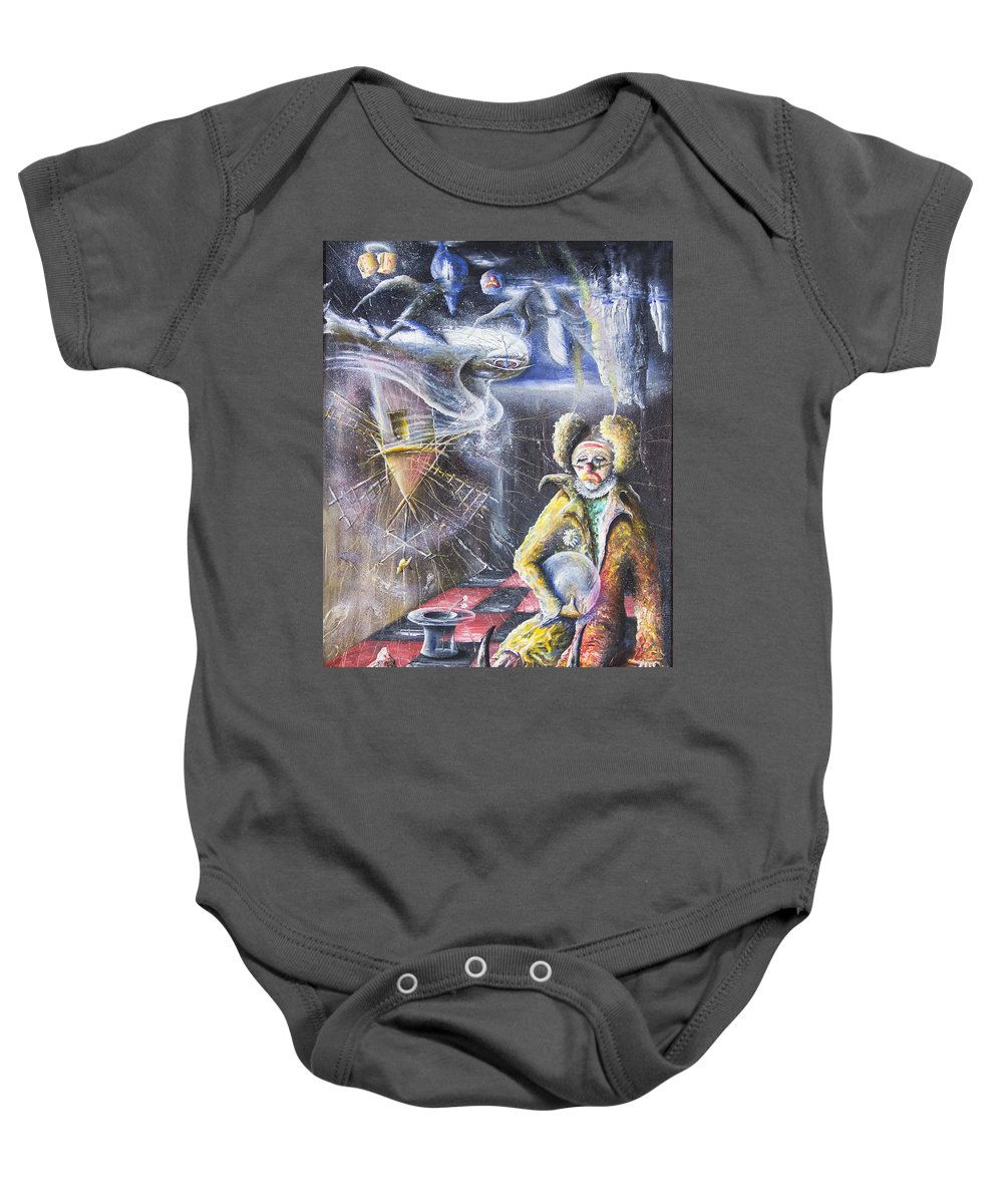 1 Person Baby Onesie featuring the painting Tristeza by Ruben Santos