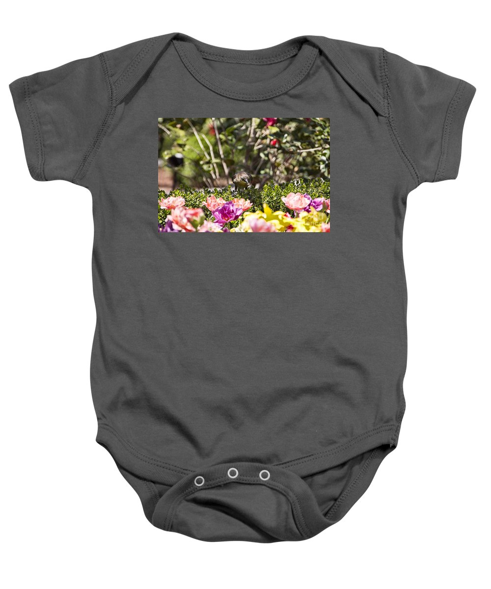 Tulips Baby Onesie featuring the photograph Tulips At Dallas Arboretum V47 by Douglas Barnard