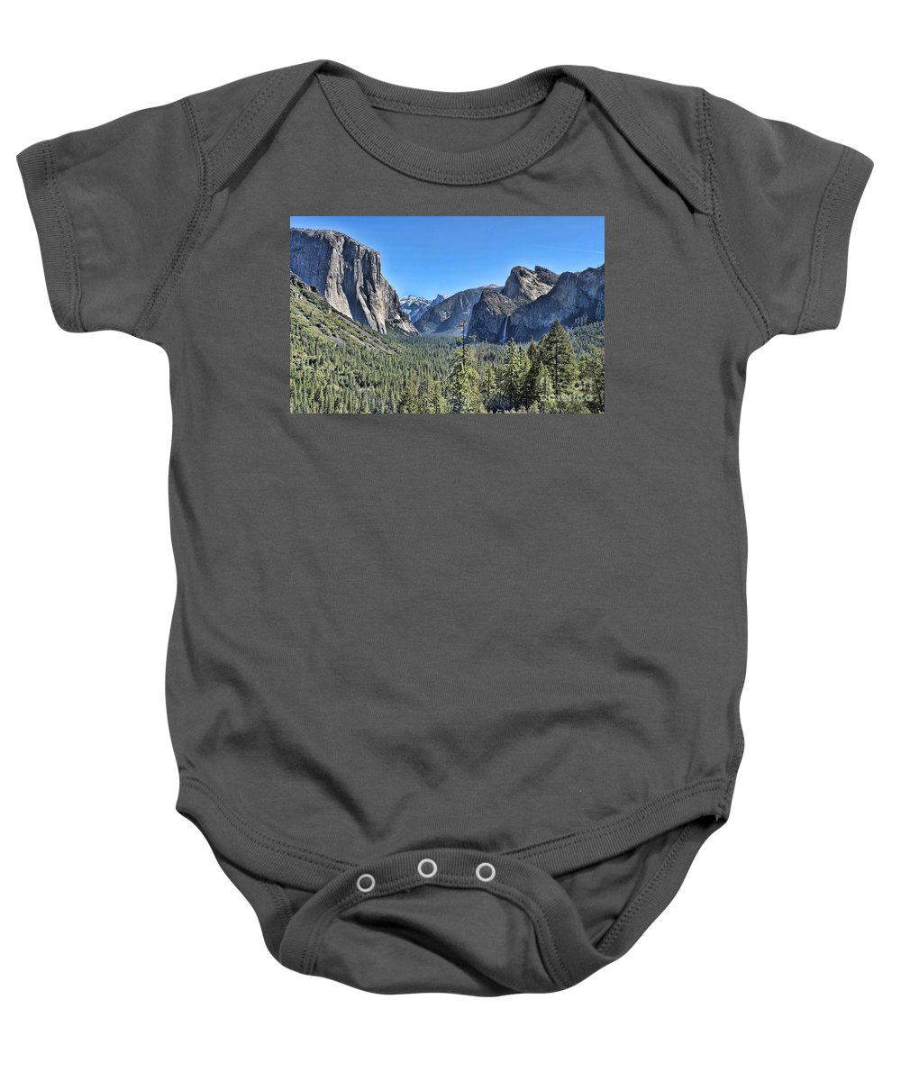 Tunnel View Baby Onesie featuring the photograph Tunnel View At Yosemite by Jack Schultz