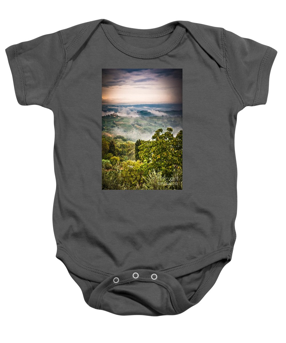 Countryside Baby Onesie featuring the photograph Tuscan View by Silvia Ganora