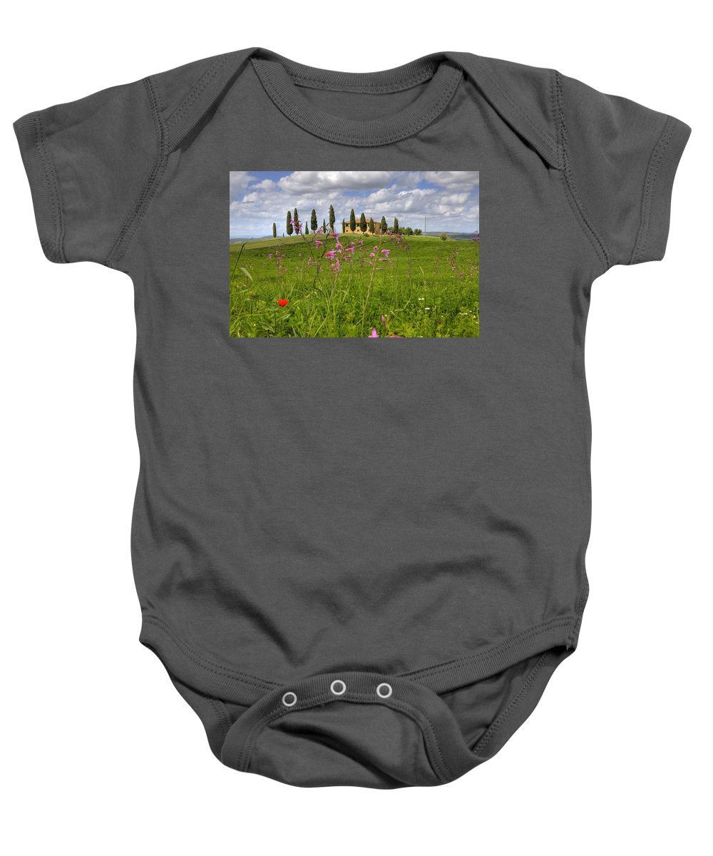 Pienza Baby Onesie featuring the photograph Tuscany - Pienza by Joana Kruse