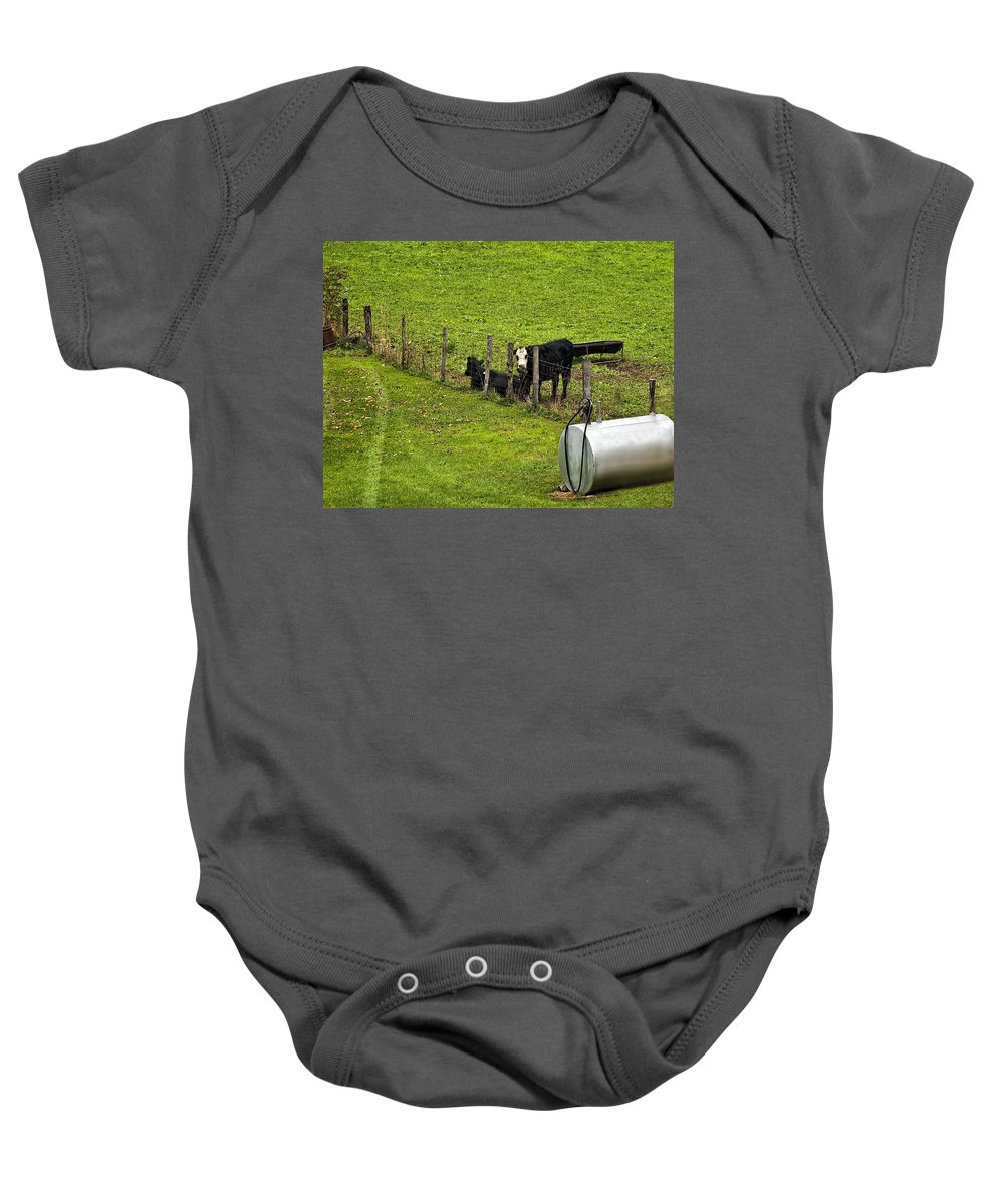 Glady Baby Onesie featuring the photograph Two Gas Sources by Steve Harrington