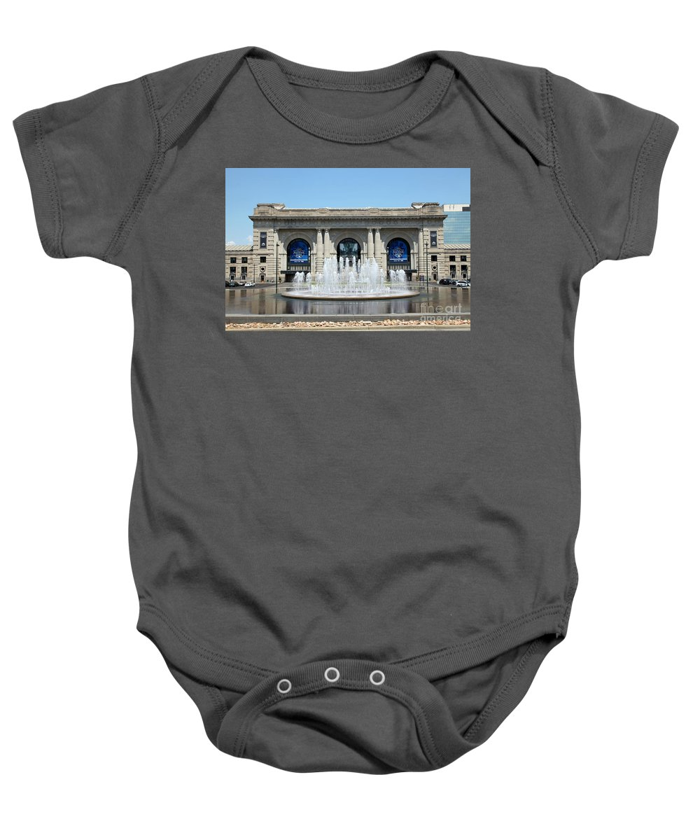 City Baby Onesie featuring the photograph Union Station Kansas City Mo by Bill Cobb