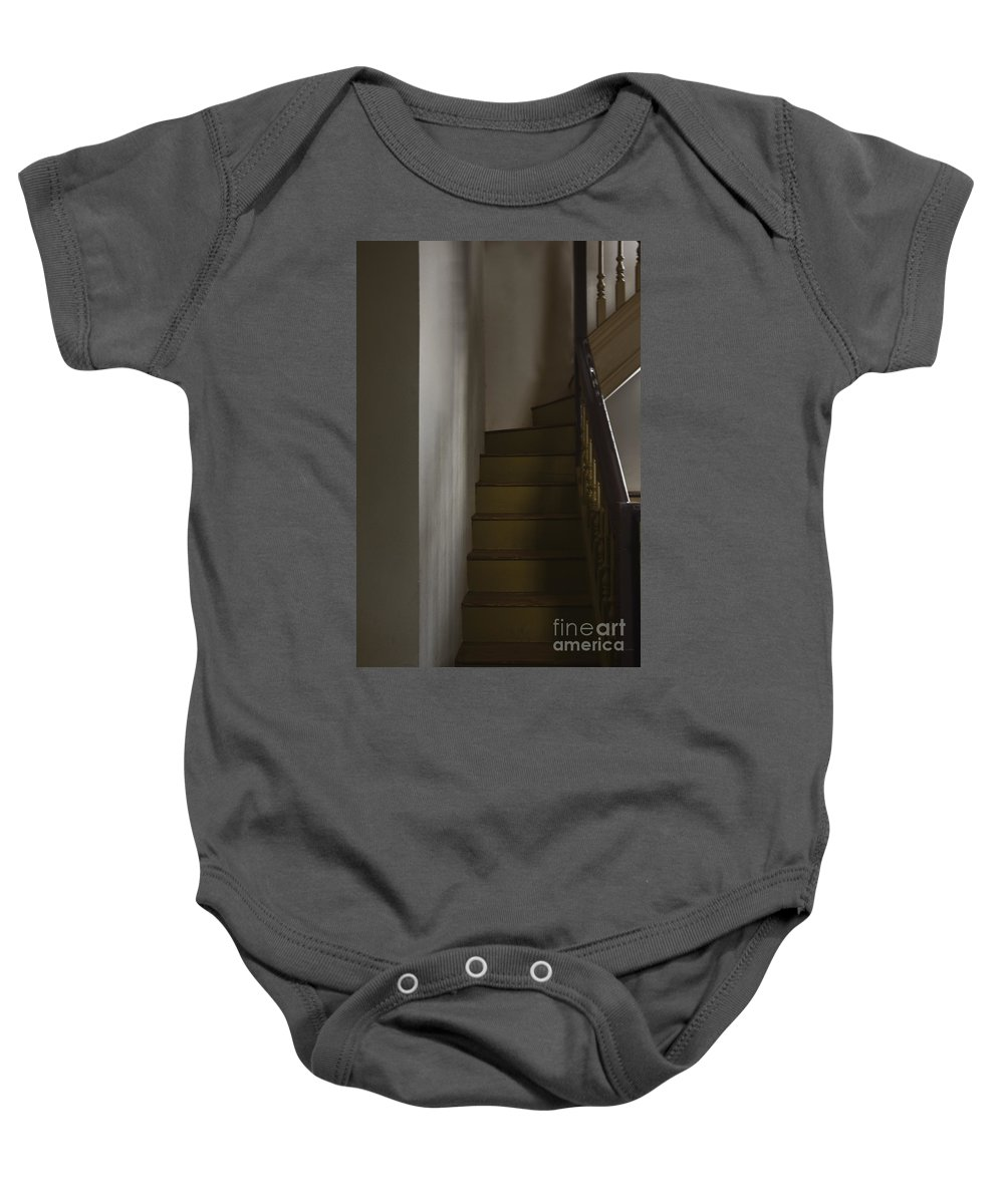 Stairs Baby Onesie featuring the photograph Up The Staircase by Margie Hurwich
