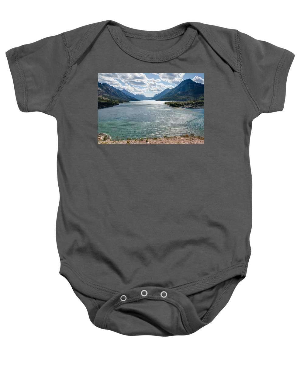 Waterton Lakes National Park Baby Onesie featuring the photograph Upper Waterton Lake by John M Bailey