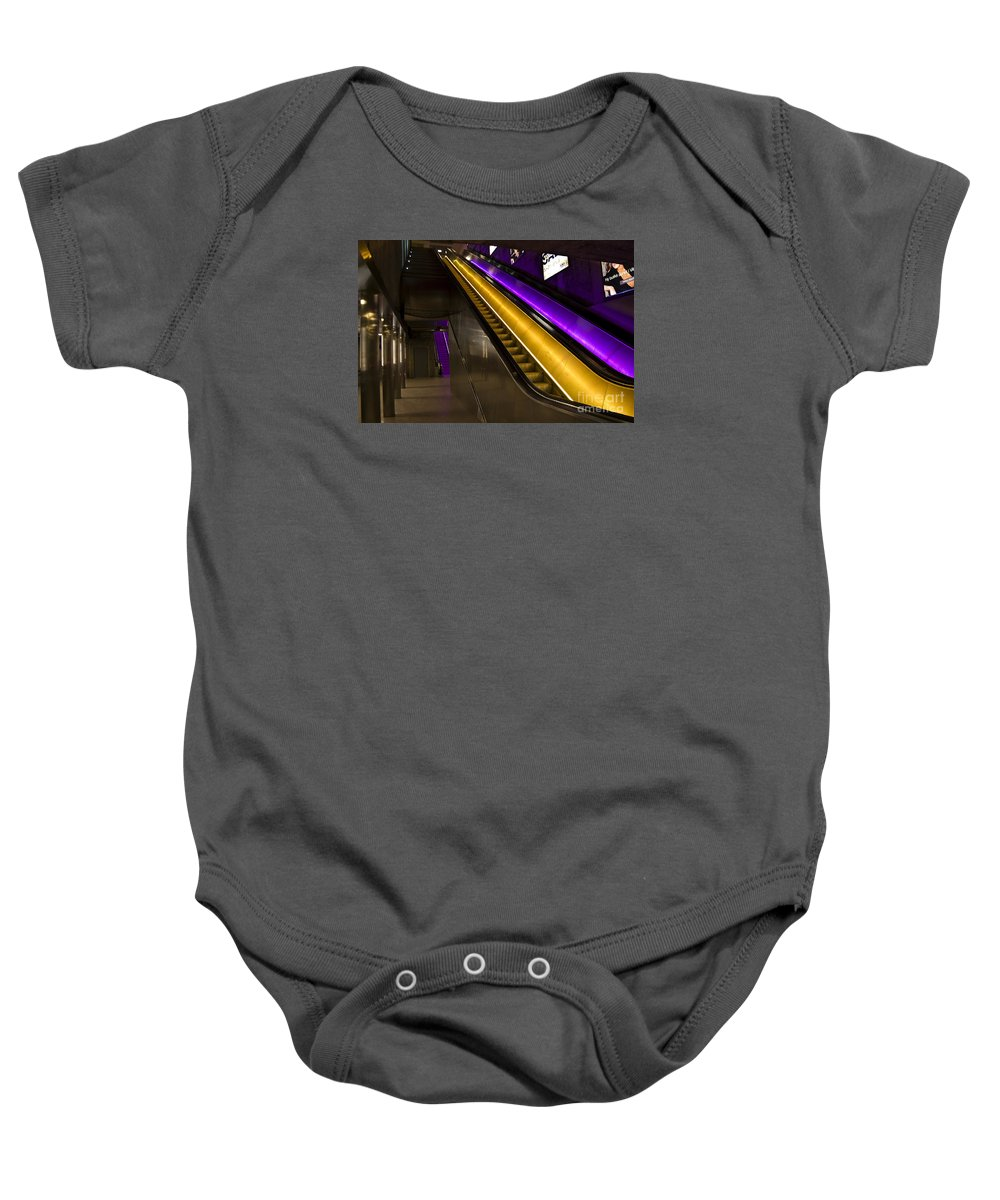 Festblues Baby Onesie featuring the photograph Urban Lights.. by Nina Stavlund