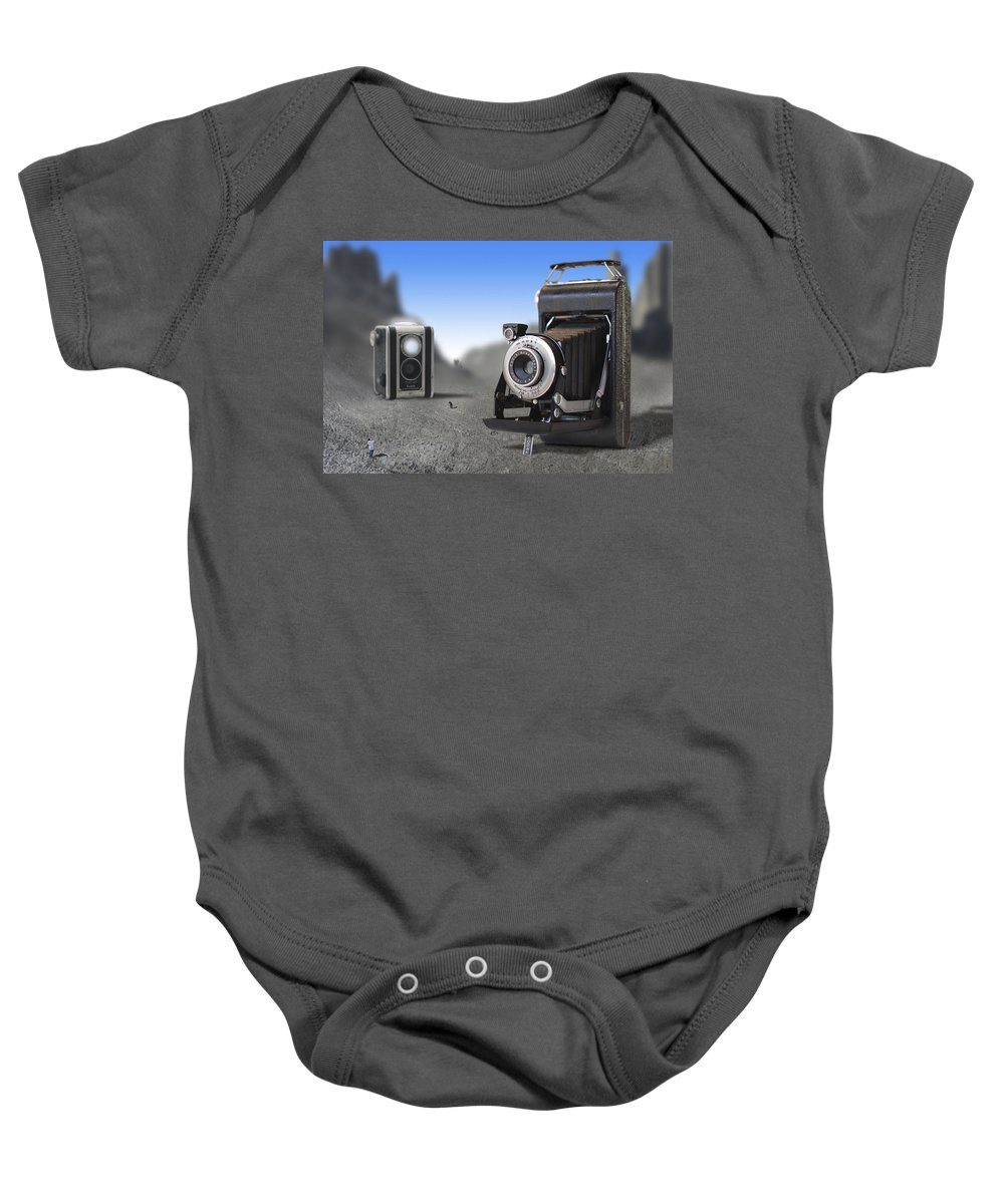 Pop Art Baby Onesie featuring the photograph Valley Of The Fallen II by Mike McGlothlen