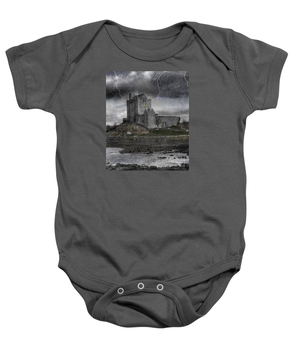 Ancient Baby Onesie featuring the photograph Vampire Castle by Juli Scalzi