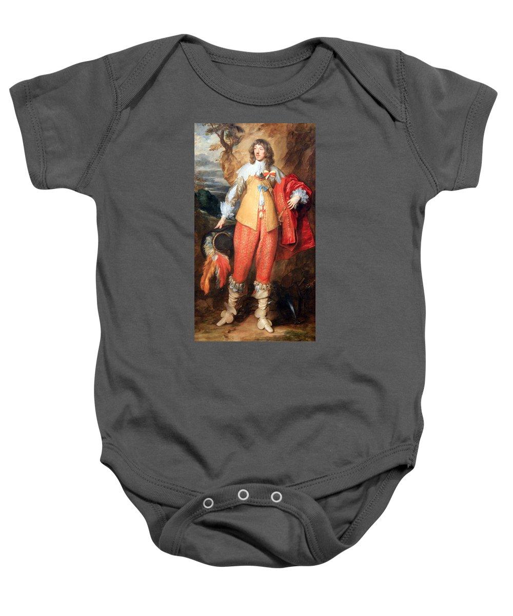 Henri Baby Onesie featuring the photograph Van Dyck's Henri II De Lorraine by Cora Wandel