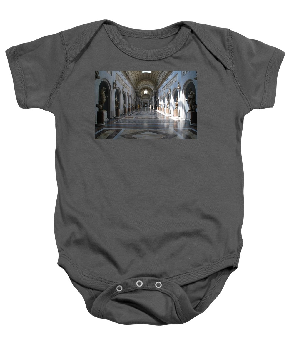 Vatican Baby Onesie featuring the photograph Vatican Museum by Richard Booth