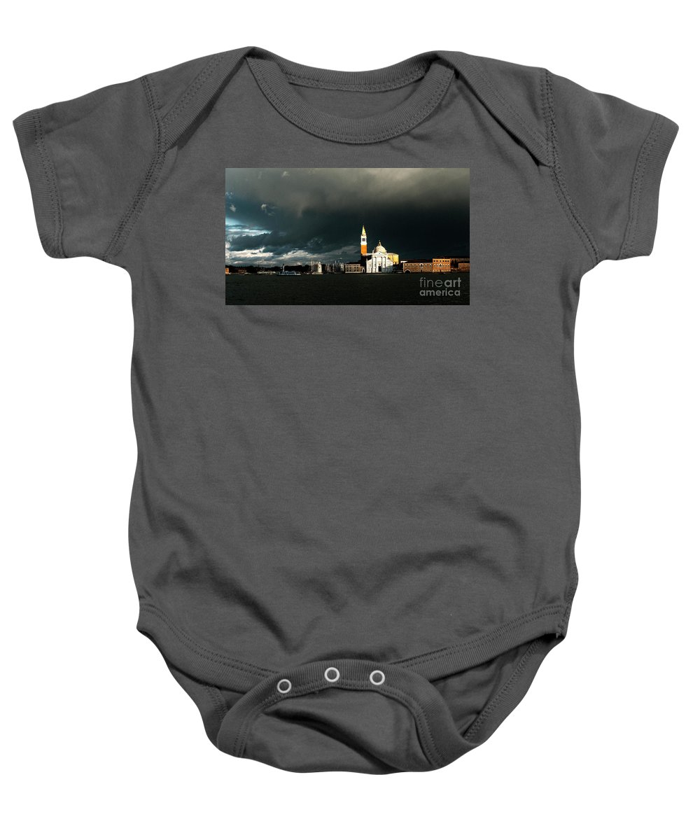 Venice Baby Onesie featuring the photograph Venice Island Saint Giorgio Maggiore by Heiko Koehrer-Wagner