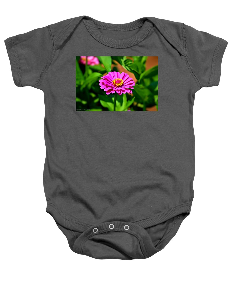 Flower Baby Onesie featuring the photograph Vibrant Flower by Tara Potts