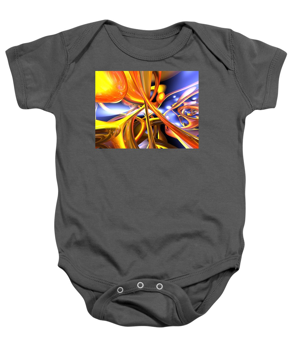 3d Baby Onesie featuring the digital art Vibrant Love Abstract by Alexander Butler