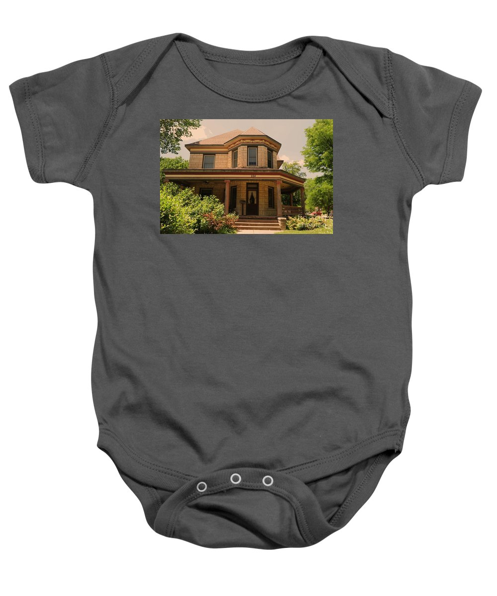 Victorian Baby Onesie featuring the photograph Victorian Home 2 by Kathleen Struckle