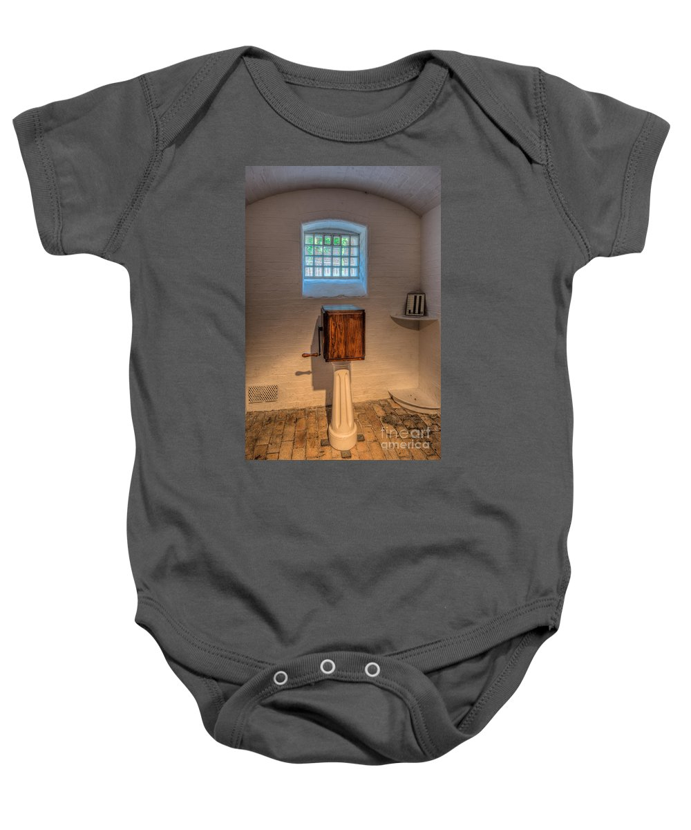 1654 Baby Onesie featuring the photograph Victorian Punishment by Adrian Evans