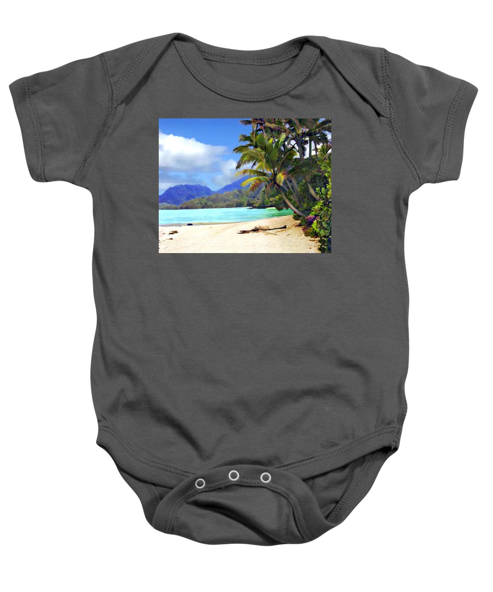 Hawaii Baby Onesie featuring the photograph View From Waicocos by Kurt Van Wagner
