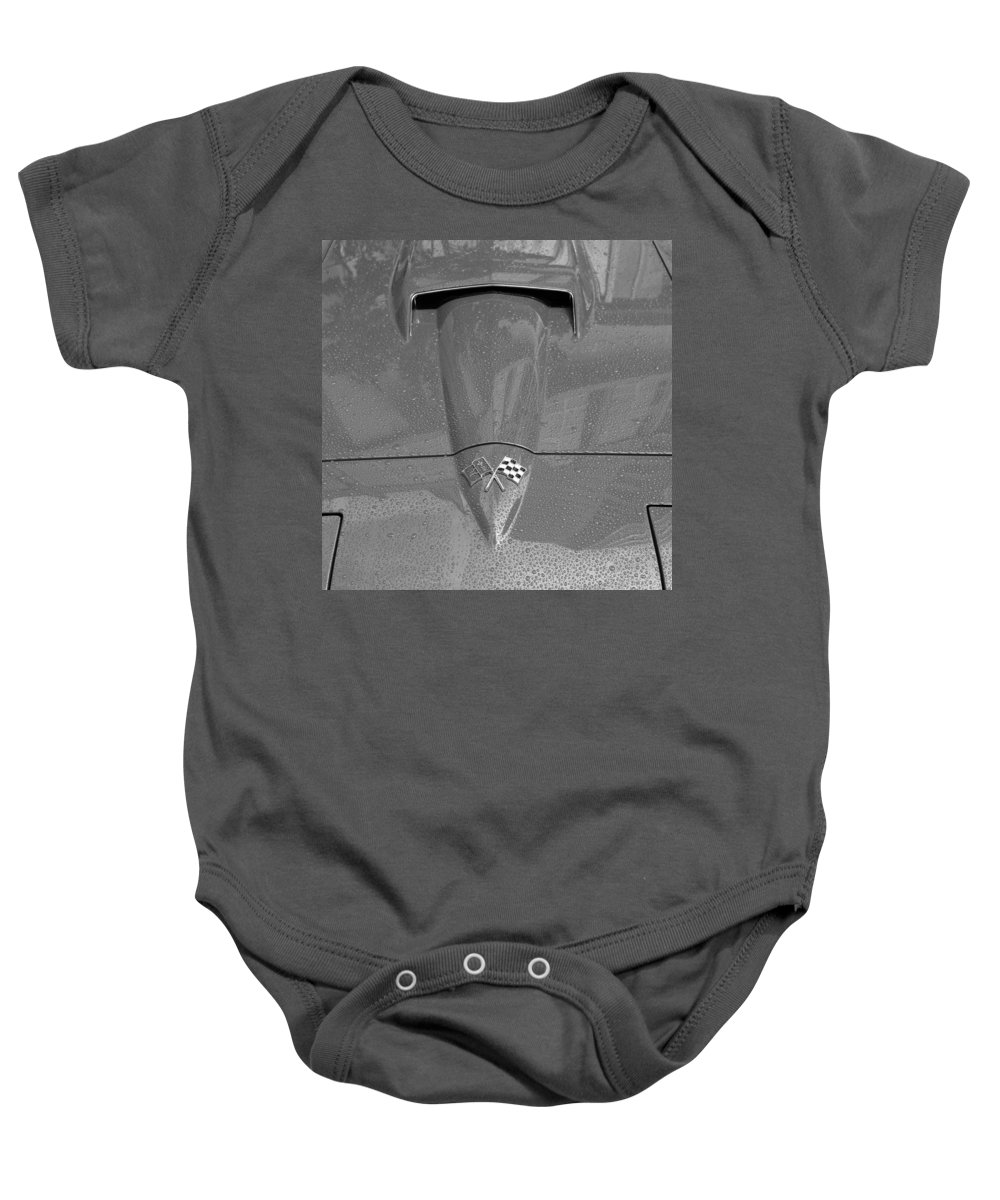 Corvette Baby Onesie featuring the photograph Vintage Corvette 5b by Andrew Fare