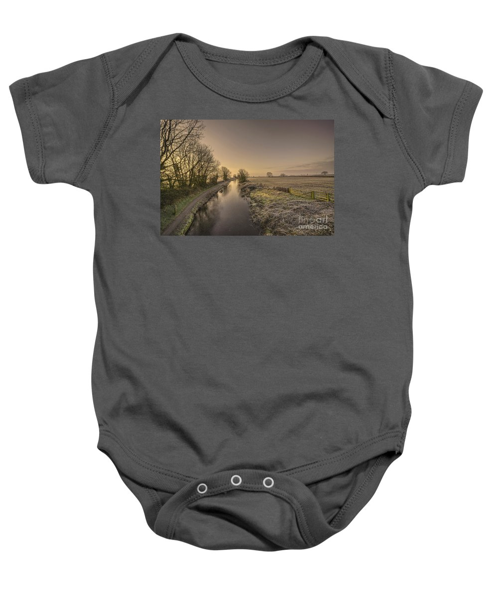 Grand Baby Onesie featuring the photograph Battens Bridge Frost by Rob Hawkins