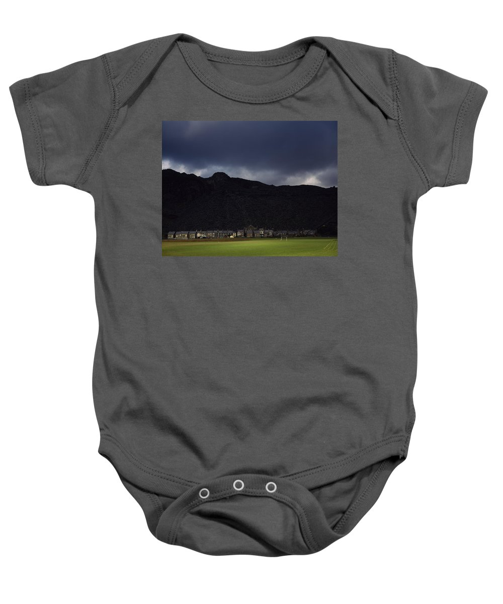 Sky Baby Onesie featuring the photograph Wales by Shaun Higson
