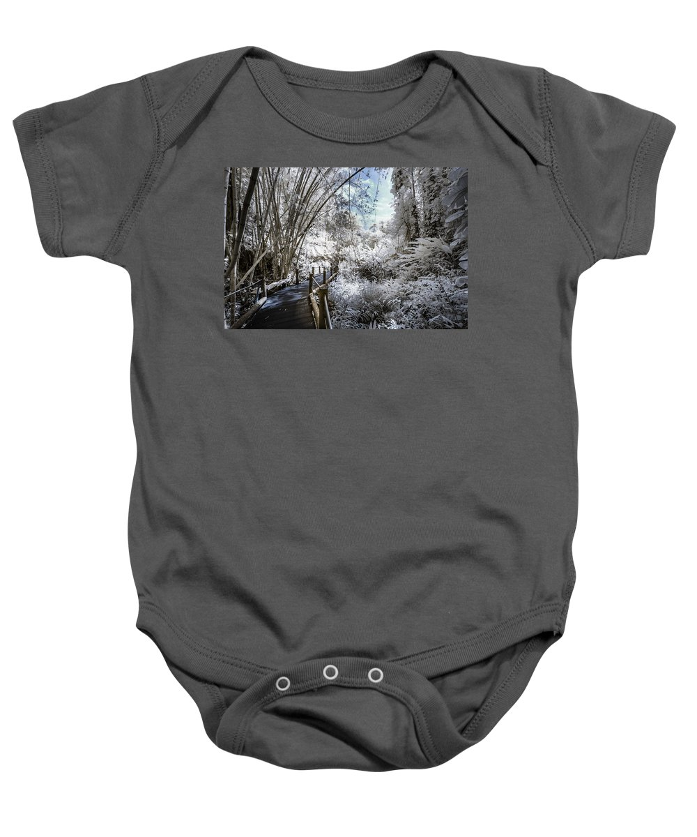 720 Nm Baby Onesie featuring the photograph Walking Into The Infrared Jungle 2 by Jason Chu
