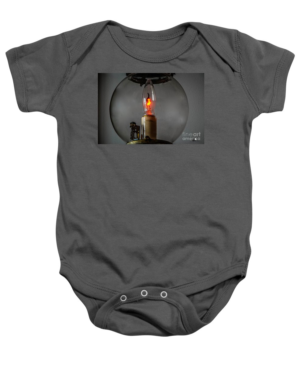 Wall Lantern Baby Onesie featuring the photograph Wall Lantern Close-up by Grace Grogan