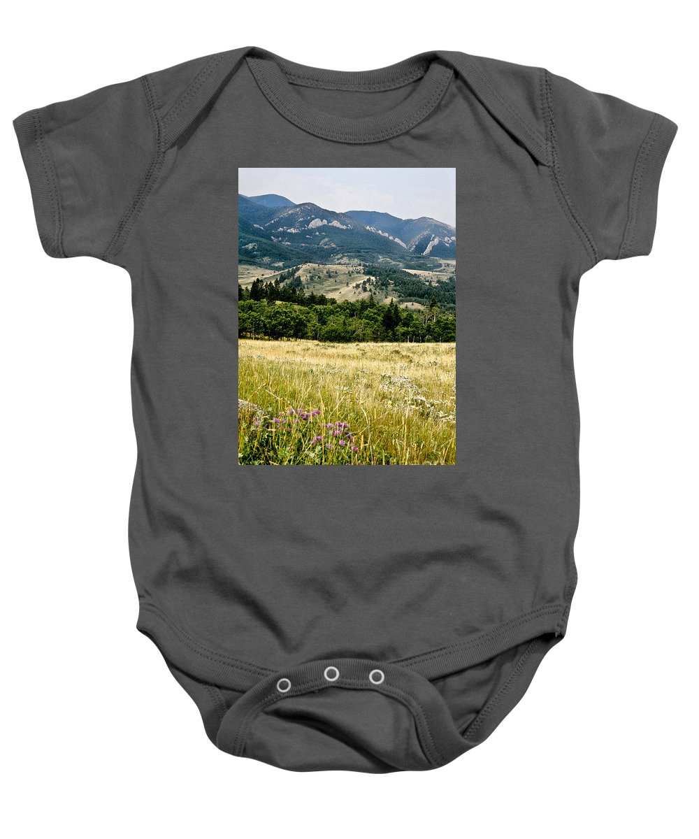 Wilderness Baby Onesie featuring the photograph Washake Wilderness by Kathy McClure