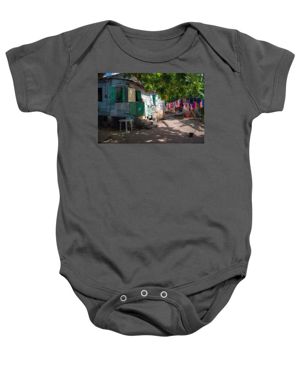 Saint Lucia Baby Onesie featuring the photograph Washing Clothes by Ferry Zievinger