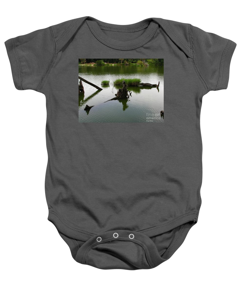 Art For The Wall...patzer Photography Baby Onesie featuring the photograph Water Art by Greg Patzer