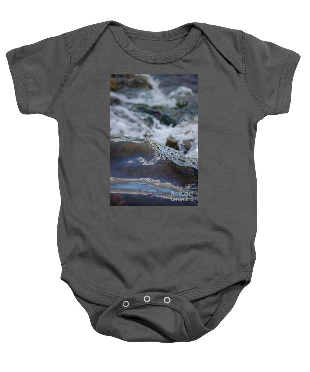 Gray Baby Onesie featuring the photograph Water Mountain 1 By Jrr by First Star Art