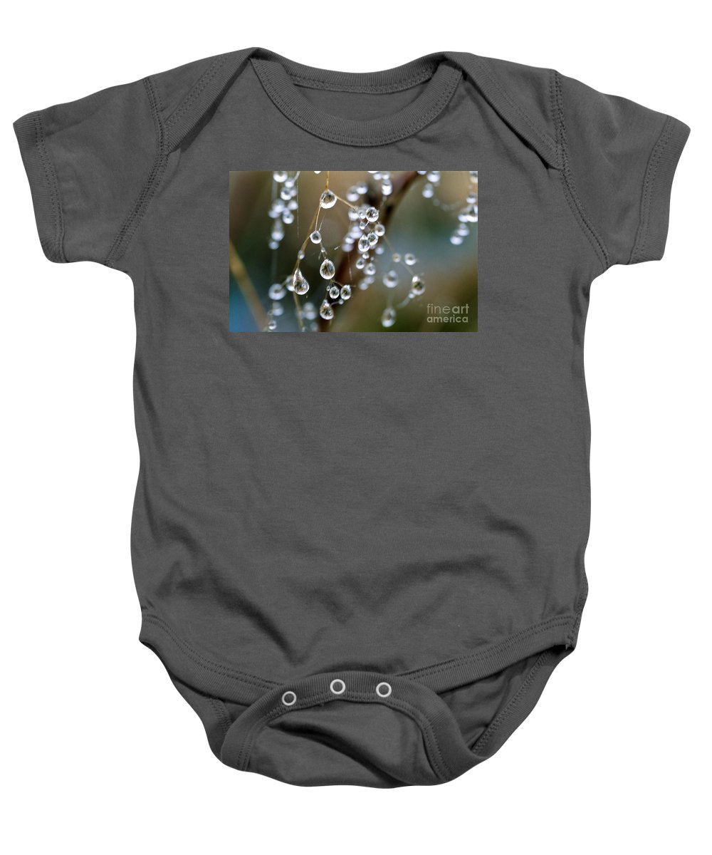 Water Baby Onesie featuring the photograph Water Pearls by Heiko Koehrer-Wagner