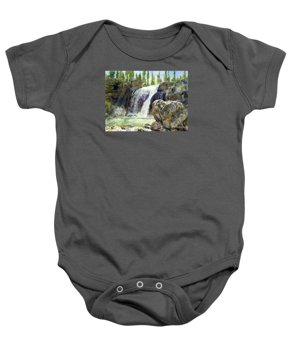 Watercolor Baby Onesie featuring the painting Waterfall by Hailey E Herrera