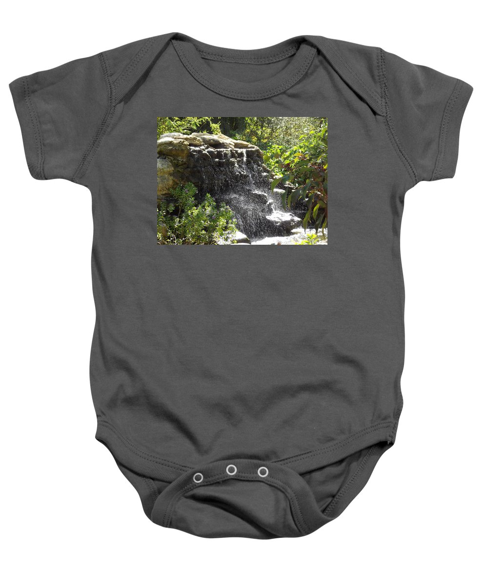 Waterfall Baby Onesie featuring the photograph Waterfall by Jennifer Lavigne
