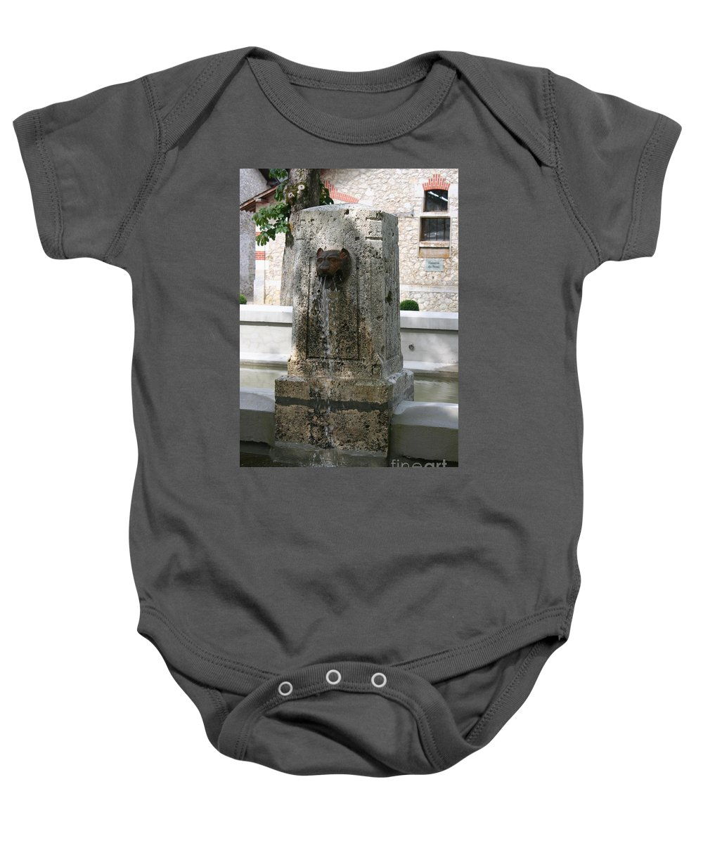 Water Baby Onesie featuring the photograph Waterspout Garden Chateau Chaumont by Christiane Schulze Art And Photography