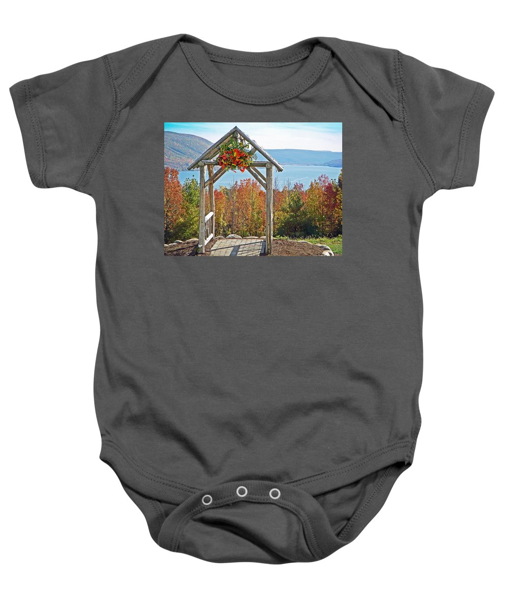Gazebo Baby Onesie featuring the photograph Wedding Gazebo by Aimee L Maher ALM GALLERY