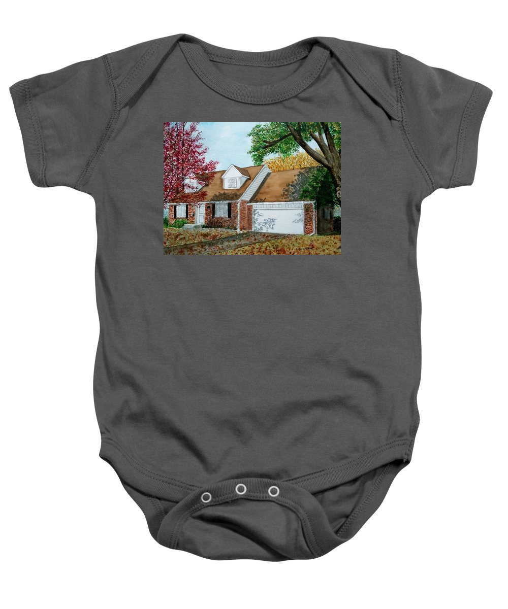 Home Baby Onesie featuring the painting Wedding Present by B Kathleen Fannin